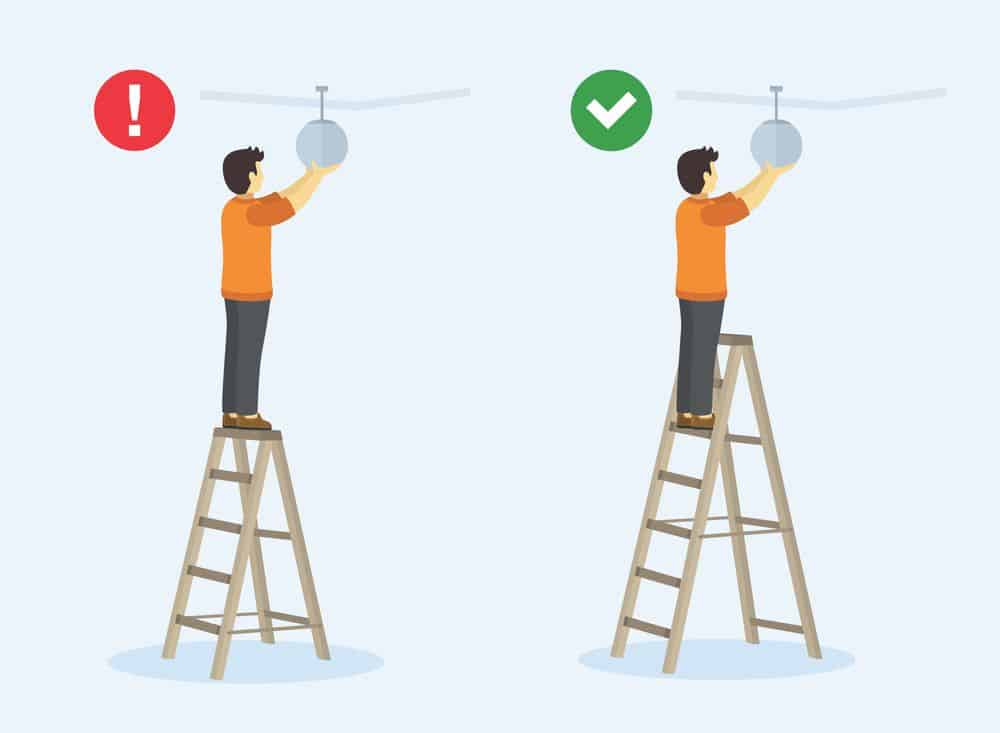 4 rules for ladder safety