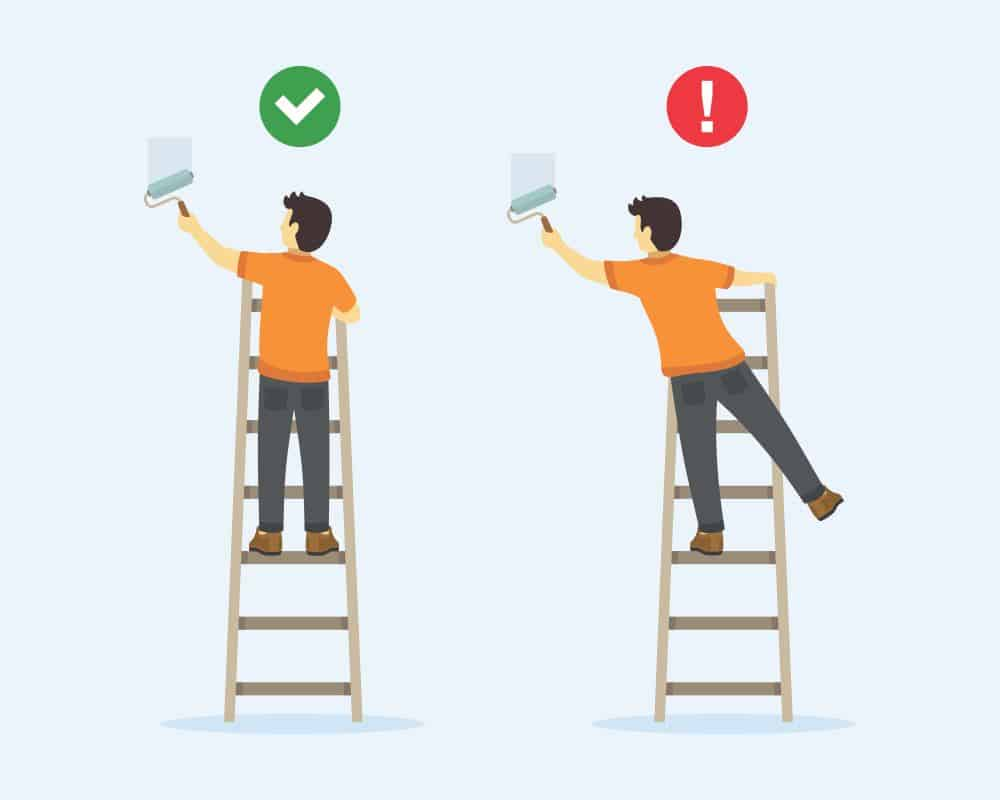 ladder use safety tips when climbing